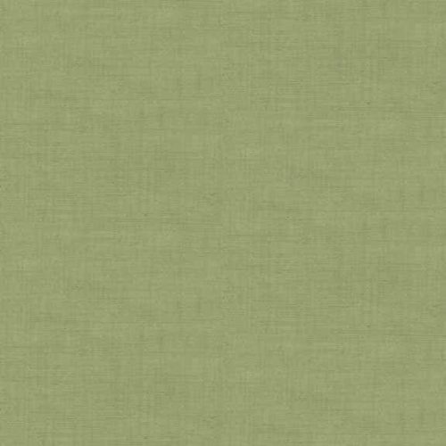 Effen groene quiltstof in linnenlook. Quiltstof, 100% katoen, 1.10m breed of als fat quarter