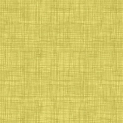 Linea Texture 1525/Y Yellow Makower. Effen gele stof met geruit printje.Quiltstof, 100% katoen