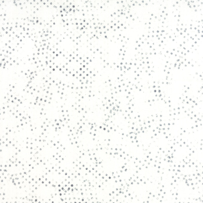 Witte achtergrond quiltstof met grijze stippen uit Moda-collectie Modern Background, ontwerp Zen Chic. Quiltstof, 100% katoen