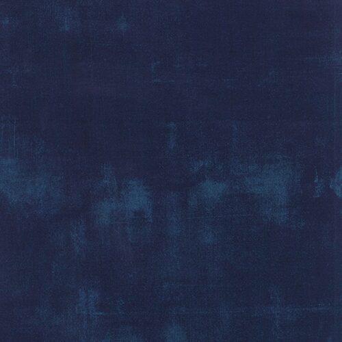 Navy Grunge 30150 225. Marineblauw vegen. Moda, Basic Grey. Quiltstof, 100% katoen