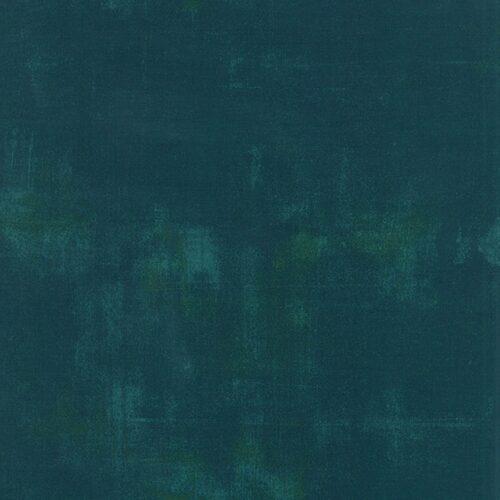 Emeraldgroen effen quiltstof Grunge. 100% katoen