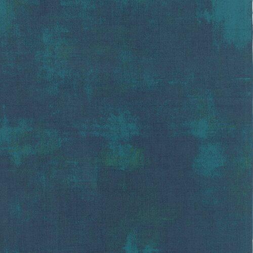 Donkere blauw-groene effen quiltstof Grunge Moda Basic Grey Peacock, 100% katoen