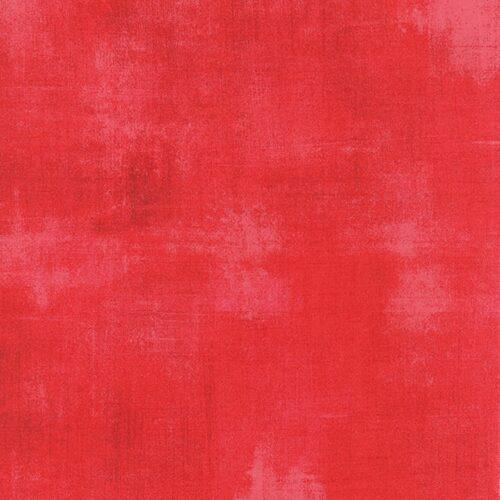 Rode bijna effen quiltstof 100% katoen, online quiltstof bij quiltkompas