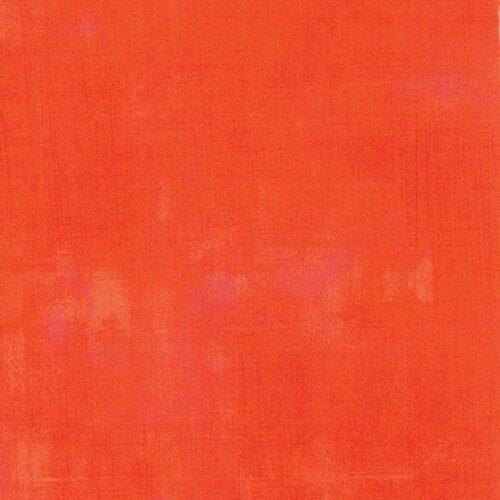 Effen felloranje-rode kleur quiltstof, met lichtere veegjes. Moda, Basic Grey.Quiltstof, 100% katoen
