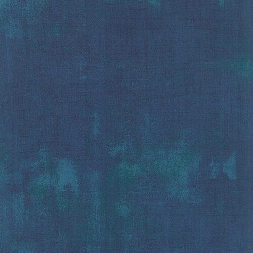 Blauwe bijna effen grunge quiltstof, 100% katoen