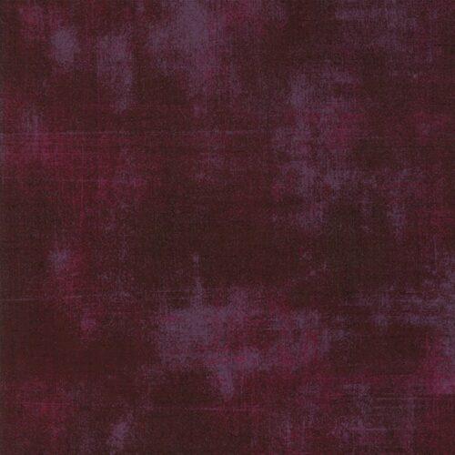 Donkere rood-paarse quiltstof Grunge, bijna effen ton sur ton, Quiltstof, 100% katoen