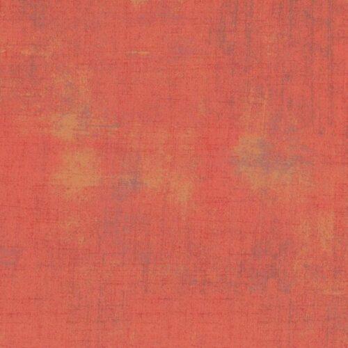 Fandango Grunge 30150 113 Moda Basic Grey. Oranje, met geeloranje en grijzige veegjes. Quiltstof, 100% katoen
