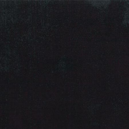 Diep zwart bijna effen quiltstof. Als fluweel. 100% katoen,