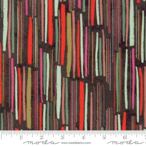 Meraki Aknaten Wren 30491 12. Veelkleurige moderne stof met strepen uit de Moda-collectie Meraki, ontworpen door Basic Grey.Quiltstof, 100% katoen, 1.10m breed.