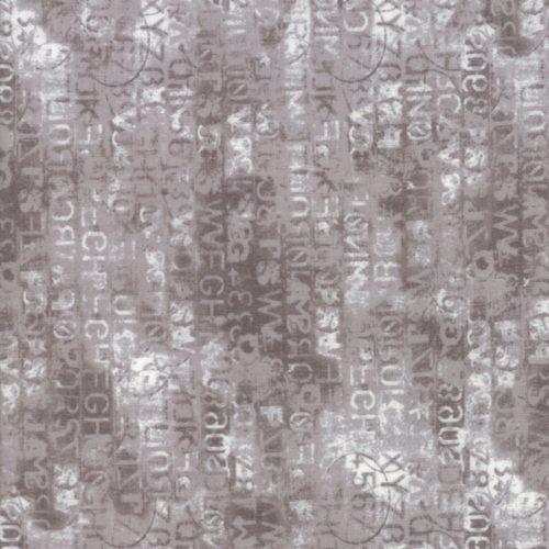 Grijzequiltstof uit de Moda-collectie Metropolis, ontworpen door Basic Grey.Quiltstof, 100% katoen, 1.10m breed.