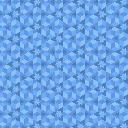 Diving Board 8638B Ocean Starfish van ontwerpster Alison Glass. Licht blauwe stof met repeterend figuratief patroon.Quiltstof, 100% katoen, 1.10m breed.
