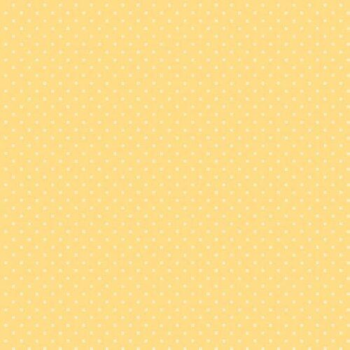 Bijna effen gele quiltstof, Bijoux 8702y square dot fresh apricot, van Makower.100% katoen