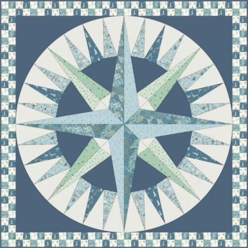 Gratis patroon ontworpen door Lynne Goldsworthy van lilysquilts.blogspot.com voor Makower.