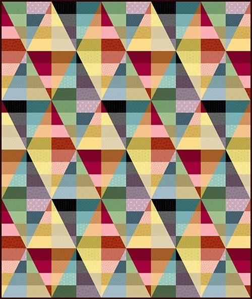 Een gratis ontwerp van Kathy Hall voor de quilt collectie Bijoux.