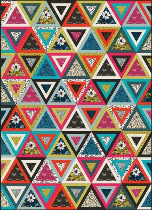 Gratis quilt patroon ontworpen door Lynne Goldsworthy van lilysquilts.blogspot.com voor de collectie Botanica.