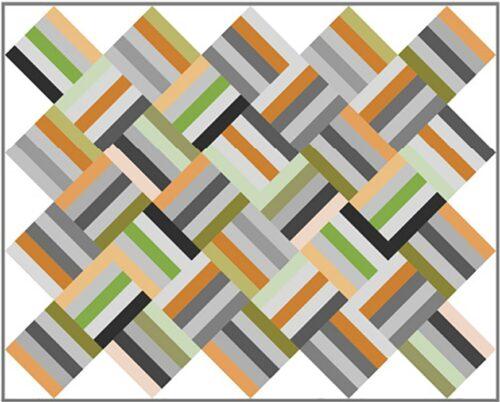 Een gratis patroon dat gemaakt kan worden met meerdere collecties quilt stof.