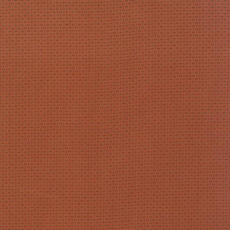 Bijna effen oranje-rode stof met klassieke uitstraling van Primitive Gatherings voor Moda. Quiltstof, 100% katoen