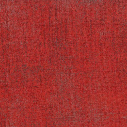 Rode effen quiltstof Grunge basiskleur aubergine grijze vlekken, Quiltstof, katoen