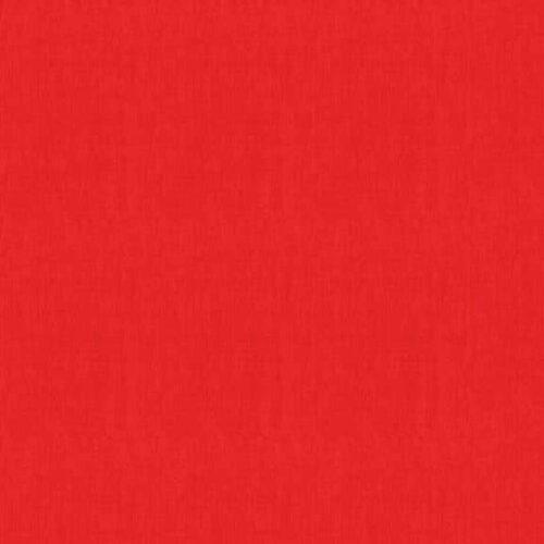 rood Linen Texture Makower.Effen rode stof in linnenlook.Quiltstof, 100% katoen