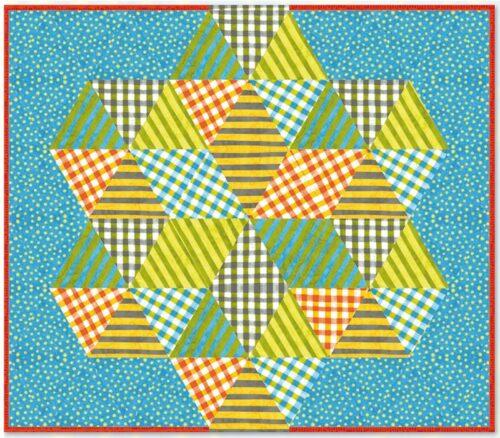 Gratis patroon voor een superstar baby quilt van Malka Dubrawsky.