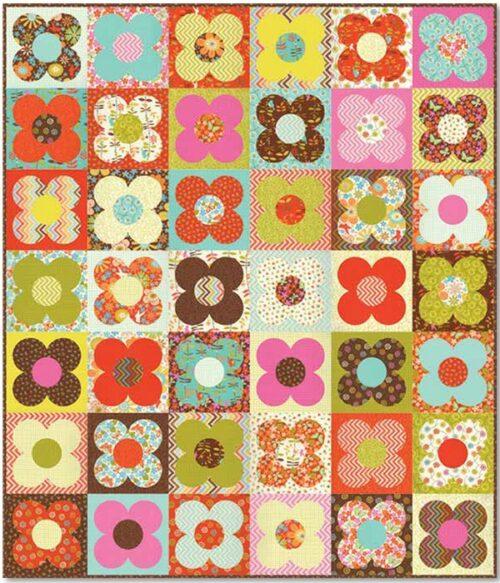 Gratis quilt patroon ontworpen door Gina Martin.