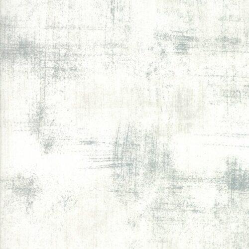 Quiltstof effen levendige wit met grijze vegen, 30150 435 fog grunge