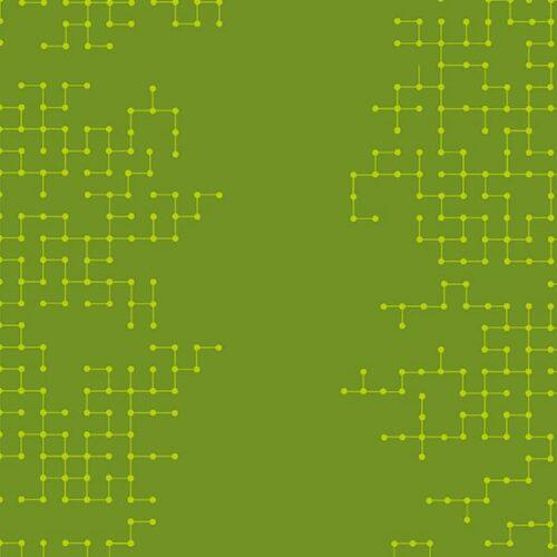 Circuitry Declassified quiltstof groen grafisch motief fat quarter