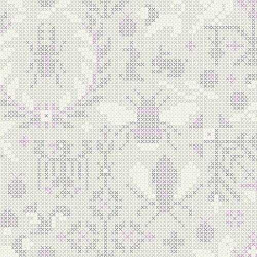 moderne witte quiltstof dieren motief alsof glass makower