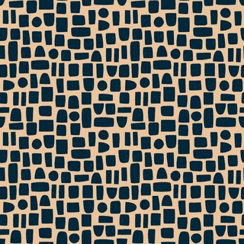 Moderne quilt stof met blokjes ruitjes roze zwart
