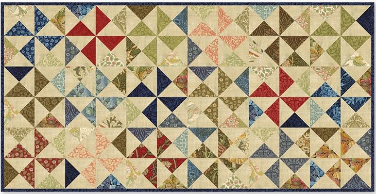 Patroon William Morris reproductie quilt stof