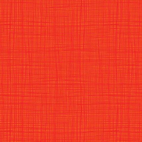 Moderne vintage oranje quilt stof met linnen structuur Linea