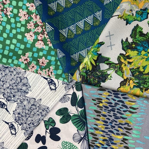 Anna Maria Horner Conservatory moderne quilt stof groen