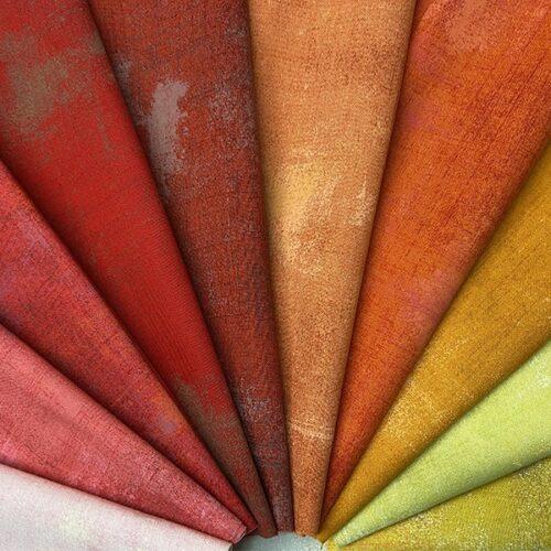 pakket grunge moderne effen quilt stof rood