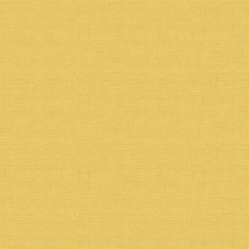 Geel modern effen quiltstof linen texture