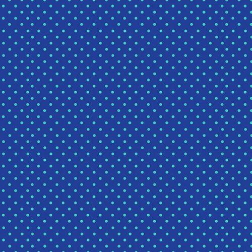 blauw moderne quiltstof met groene stippen