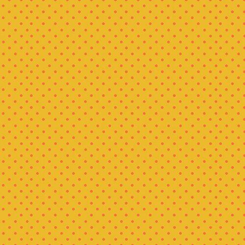 Geel oranje stippen moderne quiltstof