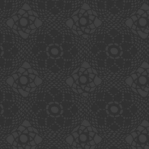 zwart modern bloemen quiltstof