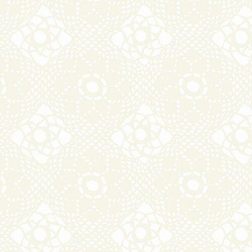 wit modern bloemen quiltstof