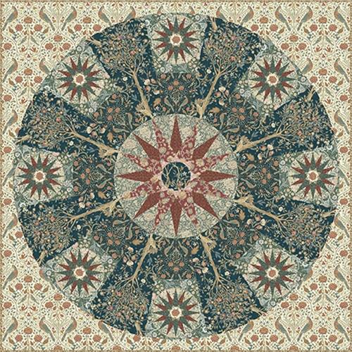 gratis quiltpatroon william morris arts and crafts