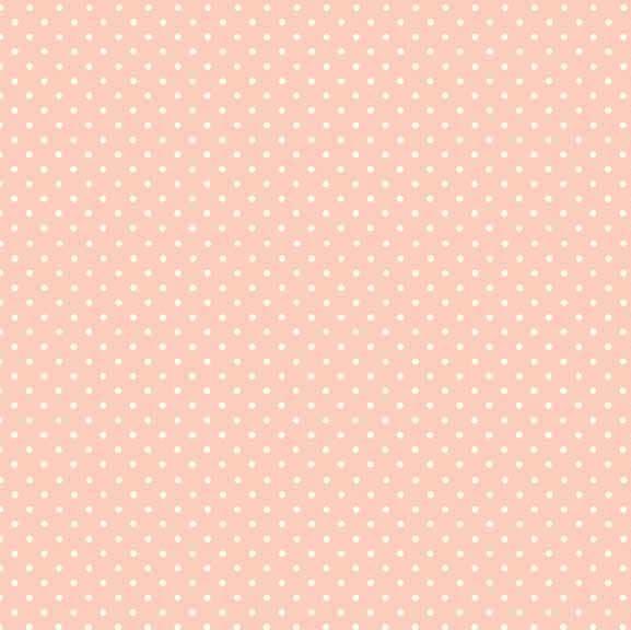 roze quiltstof met witte stippen van makower