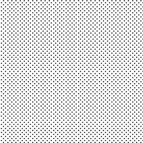 witte quiltstof met zwarte stippen, spot on, makower
