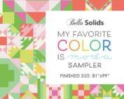 Patronenboekje sampler My Favorite Color is Moda