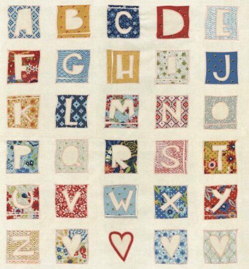quiltstof alfabet biscuits & gravy