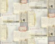 Typewriter - Multi. Creme quiltstof met grafisch motief van tickets, letters, krantenknipsels, ontworpen door Tim Holtz.Quiltstof, 100% katoen